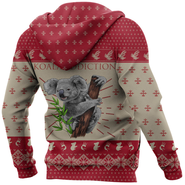 Australia Hoodie Koala Addiction Hoodie - Back - Red mix Creme color - For Kid