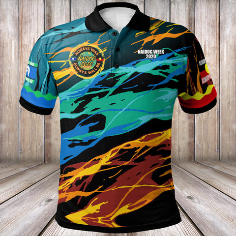 (Custom Text) 1stAustralia Polo Shirts - Naidoc Always Was, Always Will Be - BN17