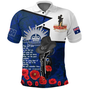 1stAustralia Polo Shirt Anzac Lest We Forget A7