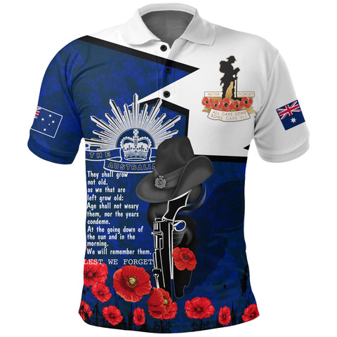 1stAustralia Polo Shirt Anzac Day 2020, Lest We Forget - A7