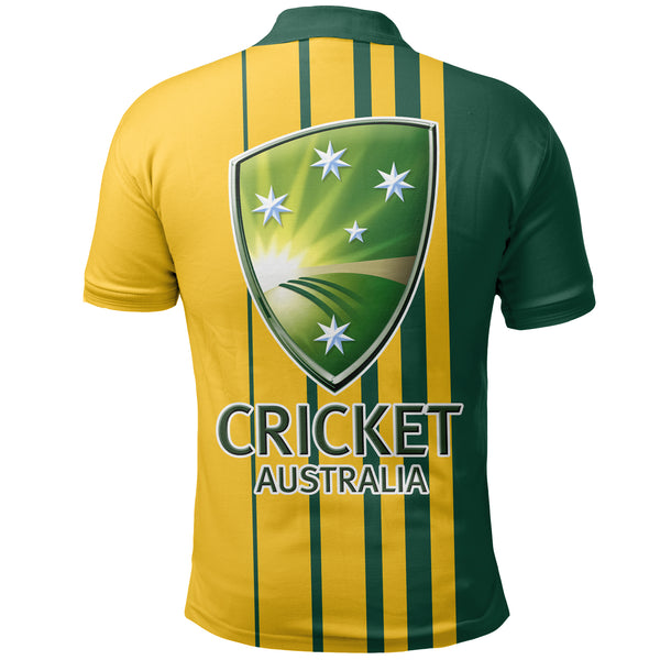 1stAustralia Polo Shirt - Cricket Shirt Australian Coat Of Arms National Color - Unisex - Bn14