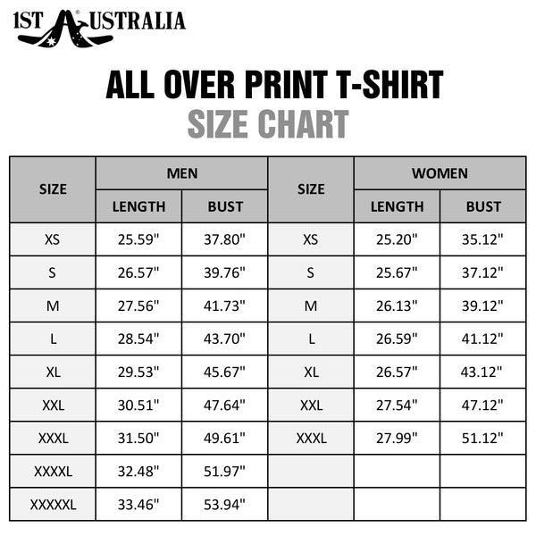 Aussie Pride All Over Print T-shirts - BN15