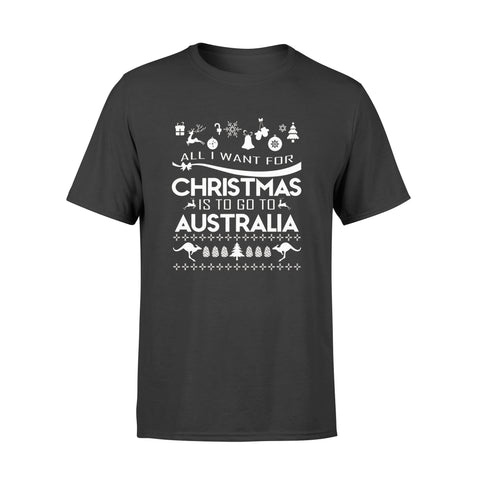 1stAustralia Christmas T-Shirt - Kangaroo T-Shirt Patterns - Unisex - K5