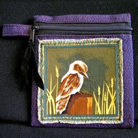 Australian Souvenir Native Animal Zip Pouch Coin Purse Wallet Organizer