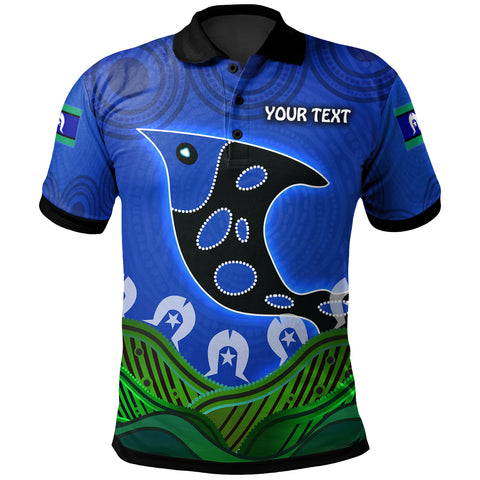 1stAustralia Personalised Polo Shirt - Torres Strait Dot Patterns Fish