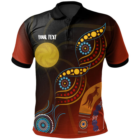 1stAustralia Personalised Polo Shirt - Flowers On The Flag