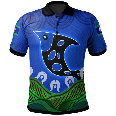 1stAustralia Polo Shirt - Torres Strait Dot Patterns Fish