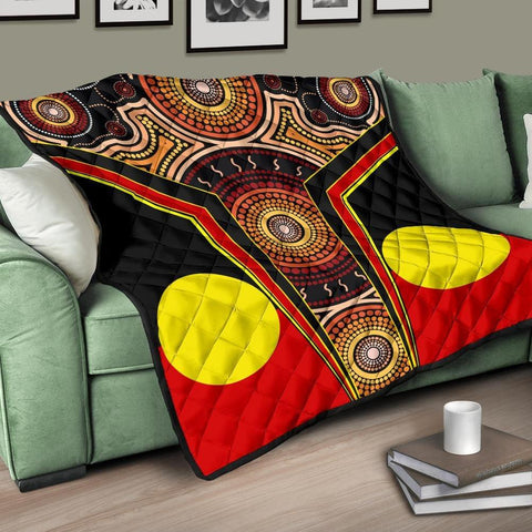 1stAustralia Premium Quilt - Aboriginal With Dot Painting Art - BN17