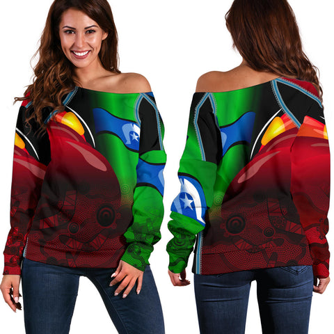 1stAustralia Aboriginal Women's Off Shoulder Sweater, Naidoc  Week
