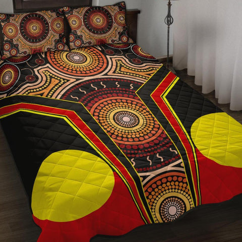 1stAustralia Quilt Bed Set - Aboriginal With Dot Painting Art - BN17