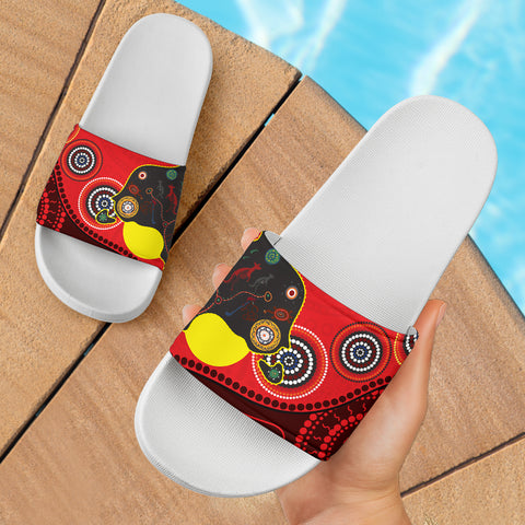 1stAustralia Sandals, Australia Map & Aboriginal Dot Painting - BN17