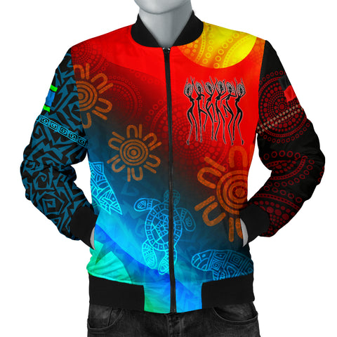 1stAustralia Naidoc Men's Bomber Jacket  - Proud To Be