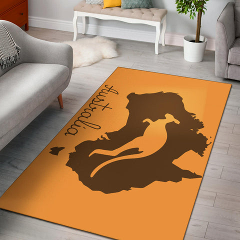 Australia Kangaroo Area Rug - Kangaroo And Map