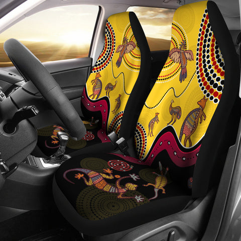 1stAustralia Aboriginal Car Seat Covers - Indigenous Animals Life Art