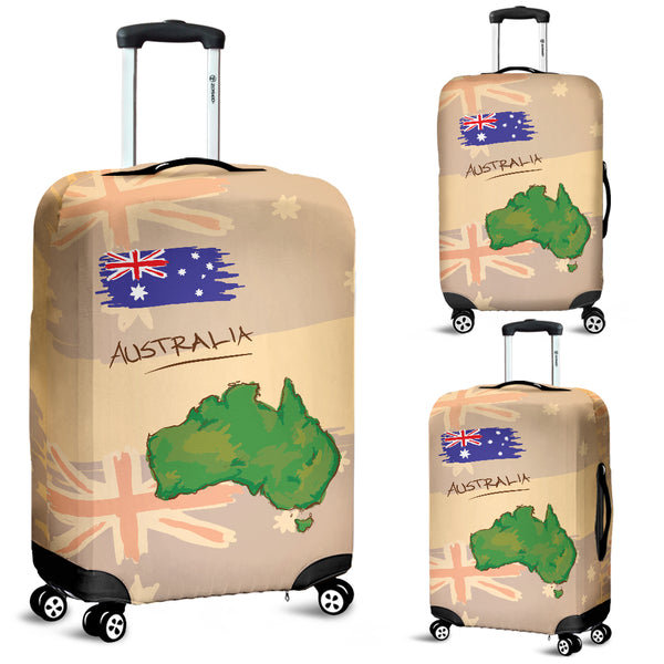 Australia Luggage Cover Australia Map