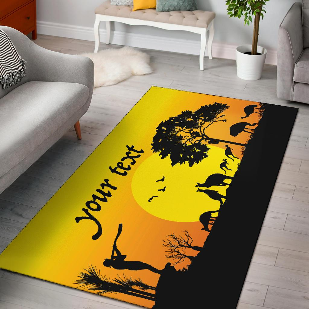 (Custom Text) 1stAustralia Rugs - Sunset Australia View - BN17