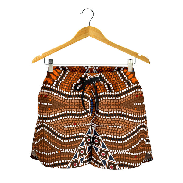 Australia Aboriginal All Over Print Womens Shorts 01