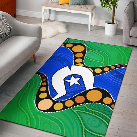 1stAustralia Torres Strait Islands Area rug -  Flag with Aboriginal Patterns