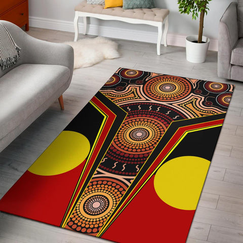 1stAustralia Area Rug - Aboriginal With Dot Painting Art - BN17
