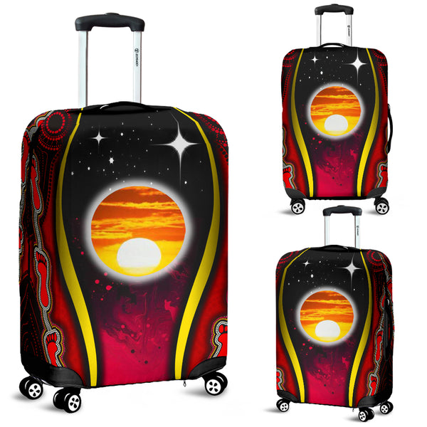 1stAustralia Luggage Cover - Australian Aboriginal Flags Symbolic Meaning - BN19