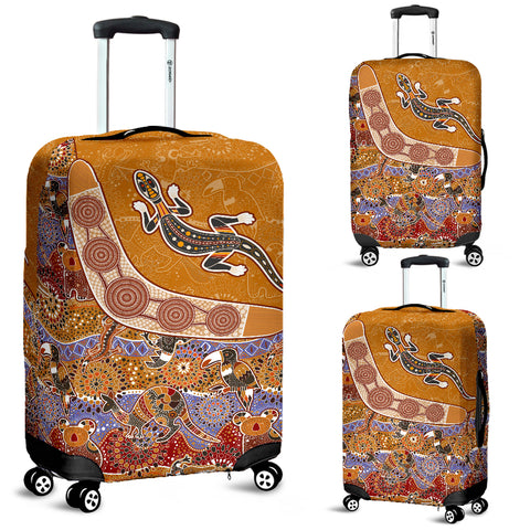 Australia Aboriginal Luggage Cover - Australia Pattern