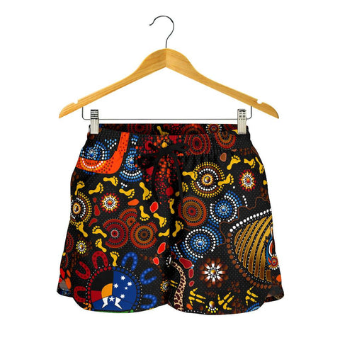 1stAustralia Aboriginal Women's Shorts - Indigenous Footprints