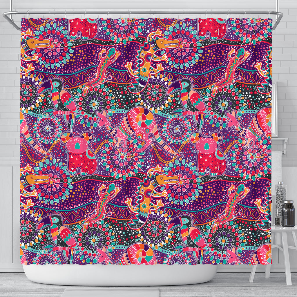 Australia Aboriginal Bohemian Shower Curtain