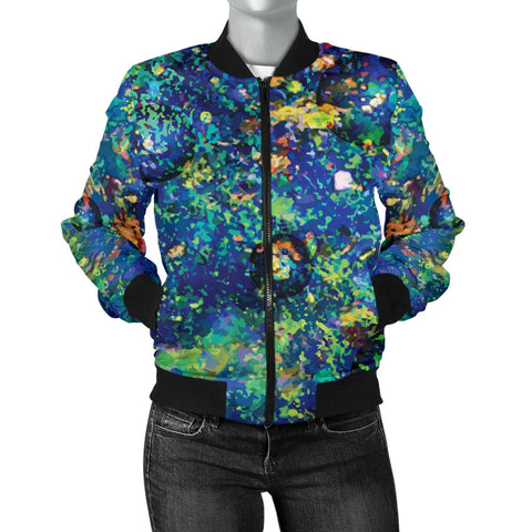 Image of Australia Womens Bomber Jacket Opal Gemstone