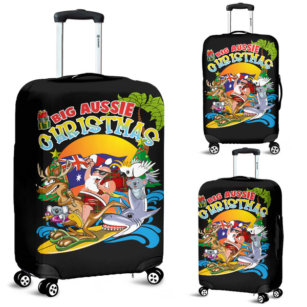 Australia Christmas Luggage Cover - Big Aussie