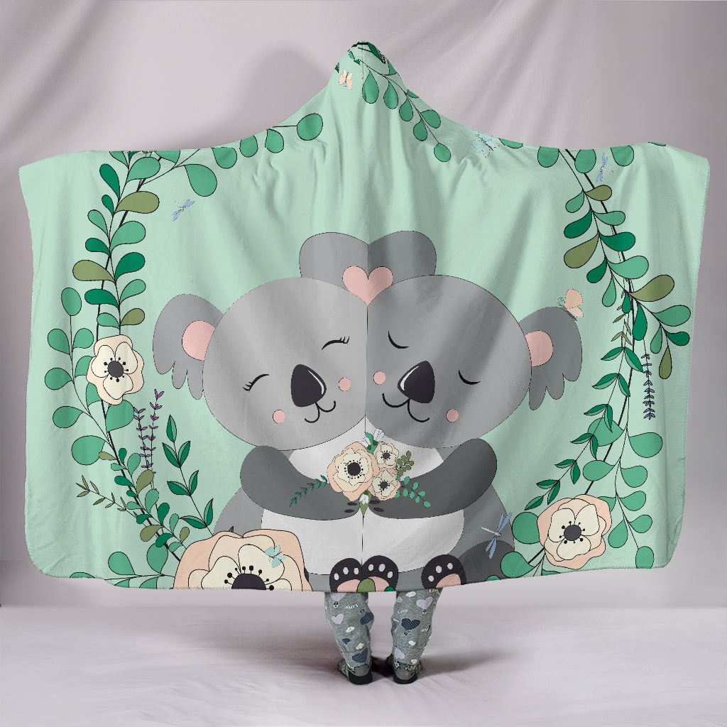 1stAustralia Hooded Blanket - Koala Hooded Couple Blanket - Th1