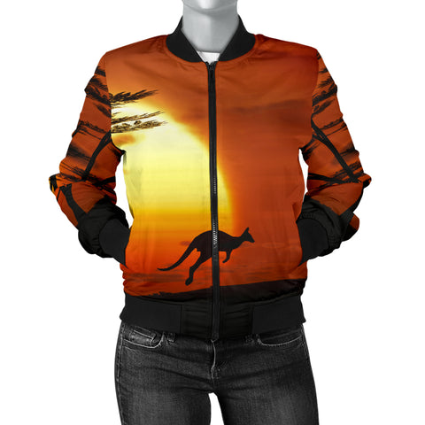Australia Womens Bomber Jacket Kangaroo Sunset