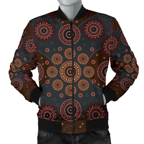 Image of Australia Mens Bomber Jacket Aboriginal 02
