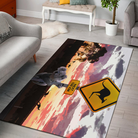 Australia Area Rug Koala With Kangaroo Sign