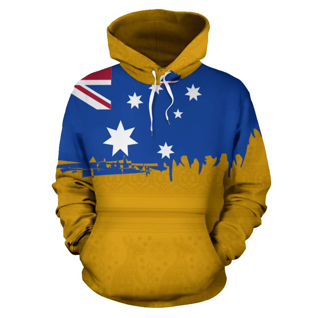 Australia Flag Aboriginal All Over Print Hoodies
