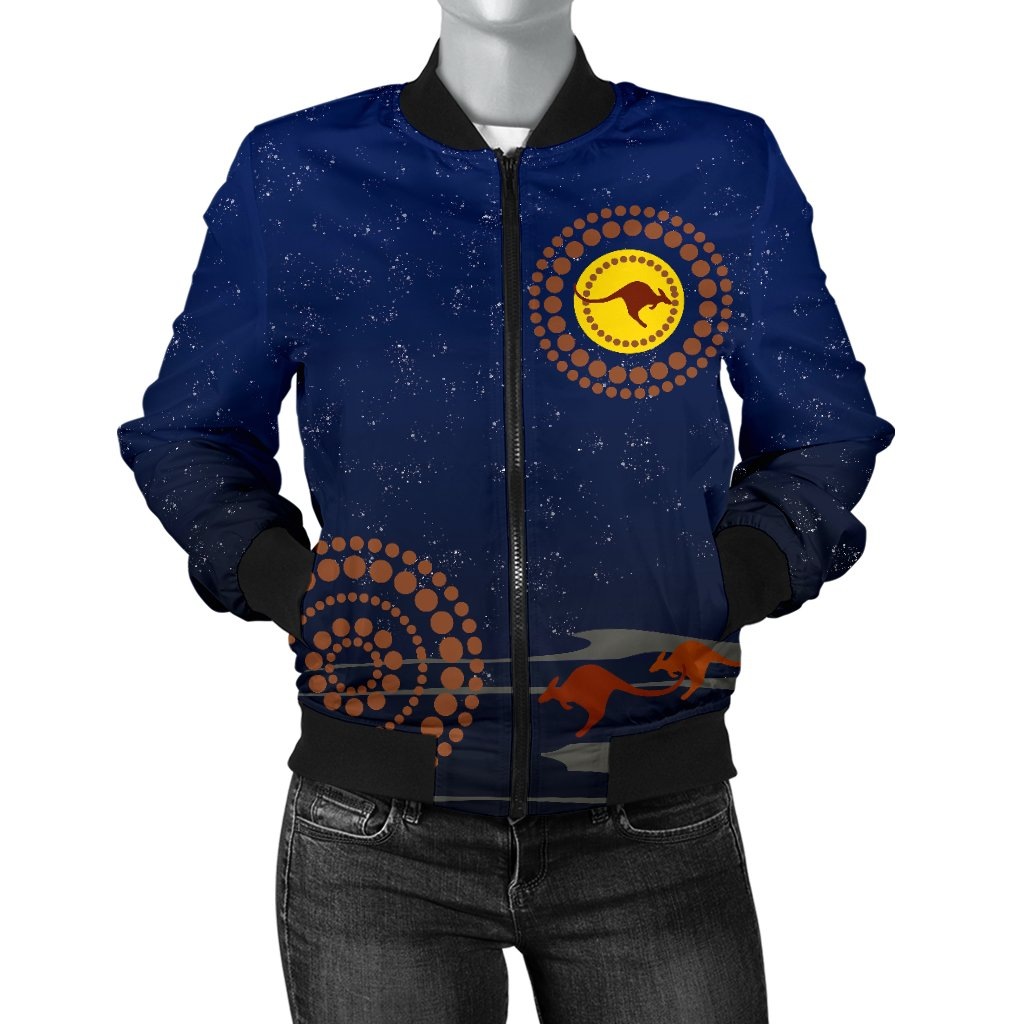 1stAustralia Women's Bomber Jacket - Kangaroo On The Sun