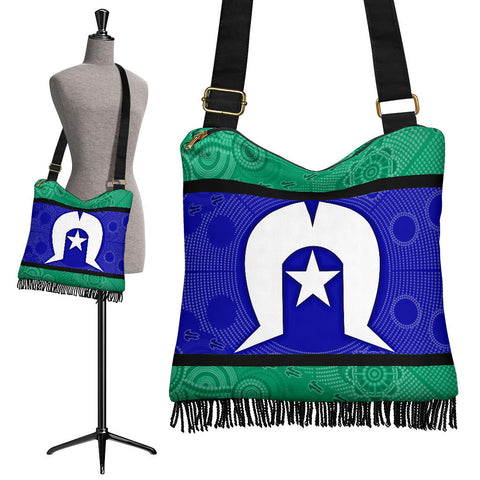 1stAustralia Aboriginal Boho Bags ,Torres Strait Islands Flag With Aboriginal Patterns - BN18