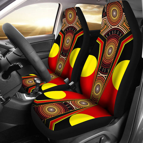 1stAustralia Car Seat Covers - Aboriginal With Dot Painting Art - BN17