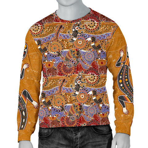 1stAustralia Sweater - Aboriginal Pattern Shirt Australian Animals - Men - Bn14