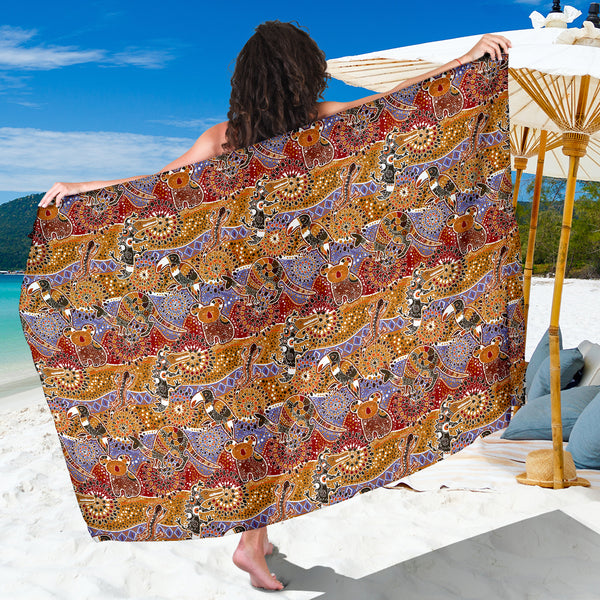 Australia Sarong Animals Aboriginal
