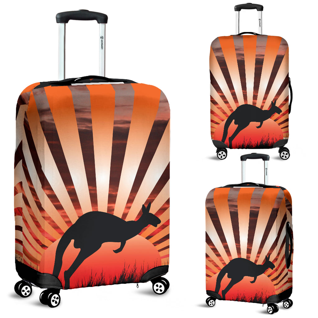 Australia Kangaroo Luggage Cover 01
