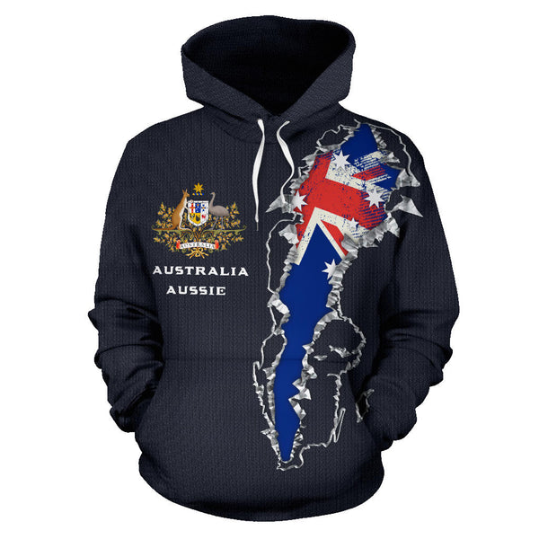 Australia In Me Hoodie with Navy color - Front - For Men and Women