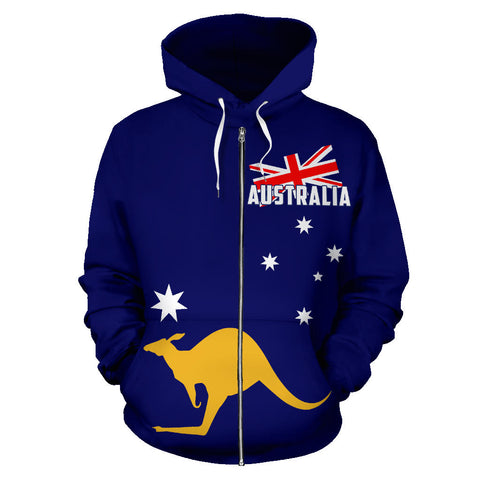 Australia Kangaroo Hoodie (Zip-Up) Flag Version