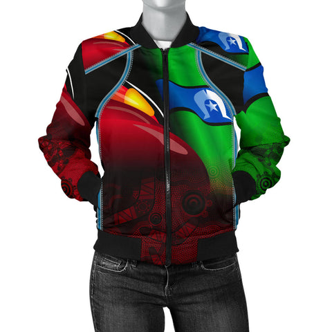 1stAustralia Aboriginal Women's Bomber Jacket, Naidoc  Week