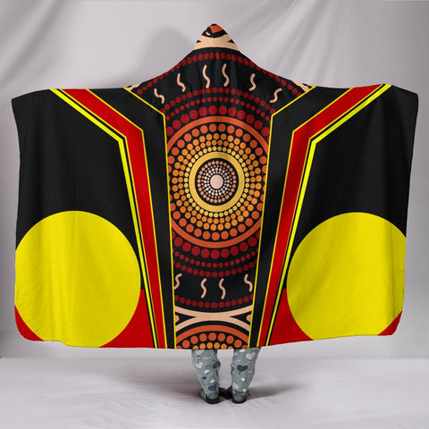 1stAustralia Hooded Blanket - Aboriginal With Dot Painting Art - BN17