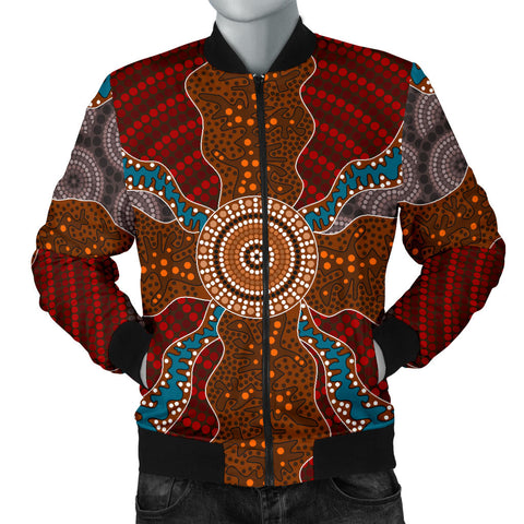 Image of Australia Mens Bomber Jacket Aboriginal 06