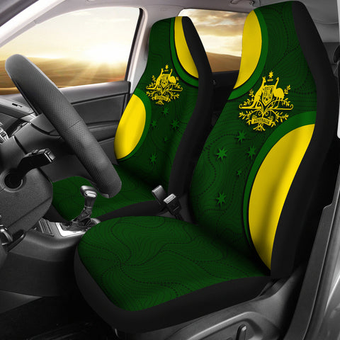 1stAustralia Car Seat Covers - Australia Coat of Arms Seat Covers National Colors - Universal Fit