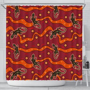 Australia Animals Aboriginal Shower Curtain