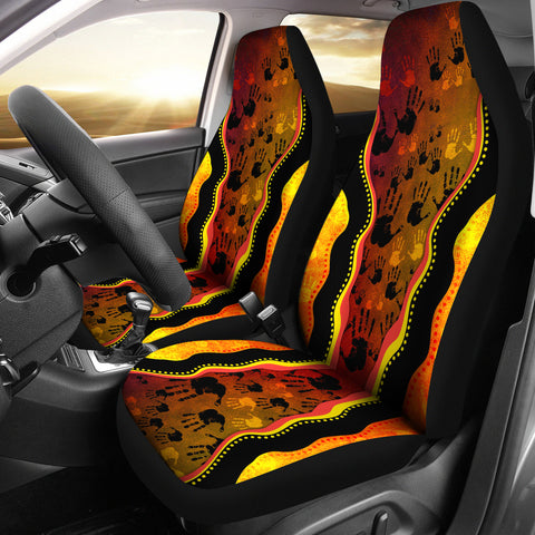 Australia Aboriginal Car Seat Covers - Golden Style