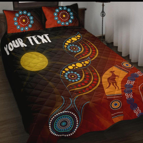 1stAustralia Personalised Quilt Bed Set - Flowers On The Flag