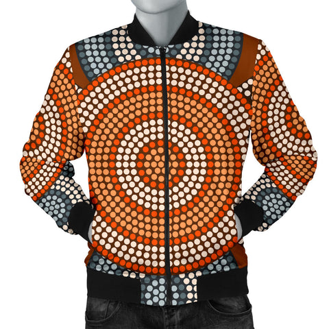 Image of Australia Mens Bomber Jacket Aboriginal 05